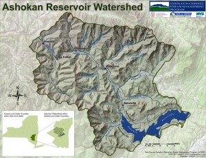 Map of the Ashokan Watershed