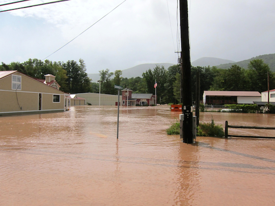Boiceville flooding in 2011