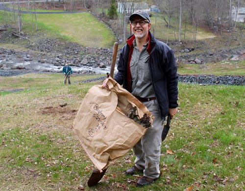 Riparian planting volunteer in the Catskills