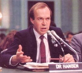 Dr. James Hansen testifying before Congress about Climate Change in 1988.