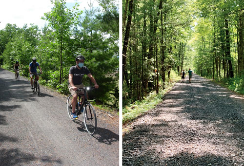 biking along the Ashokan Rail Trail