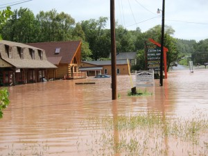 Flooding in Boiceville as a results of Tropical Storm Irene